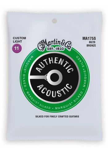 Martin Strings Martin MA175S Authentic Silked 80/20 Bronze Custom Light 11-52