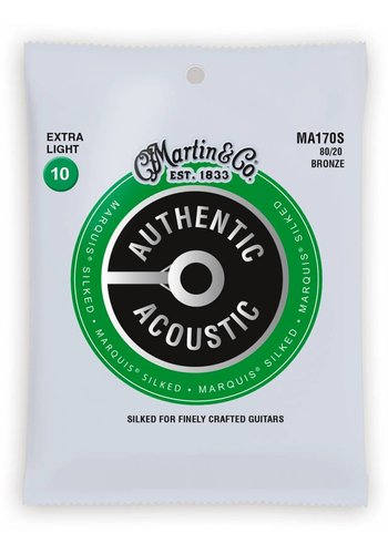 Martin Strings Martin MA170S Authentic Silked 80/20 Bronze Extra Light 10-47
