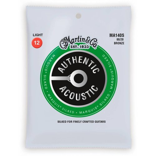 Martin Strings Martin MA140S Authentic Silked 80/20 Bronze Light 12-54