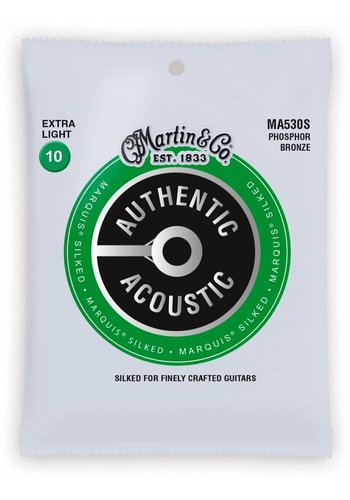 Martin Strings Martin MA530S Authentic Silked Phosphor Bronze Extra Light 10-47
