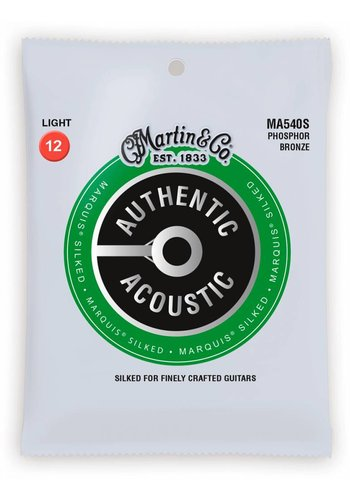 Martin Strings Martin MA540S Authentic Silked Phosphor Bronze Light 12-54