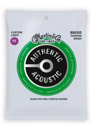 Martin Strings Martin MA535S Authentic Silked Phosphor Bronze Custom Light 11-52
