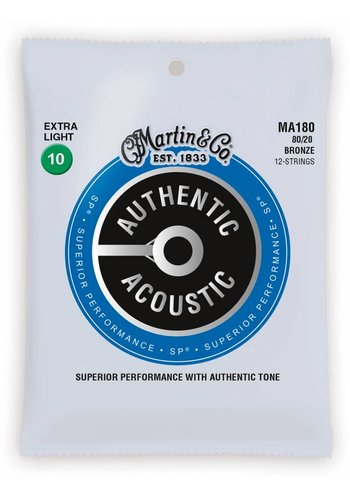 Martin Strings Martin MA180 Authentic 12-String 80/20 Bronze Extra Light 10-47