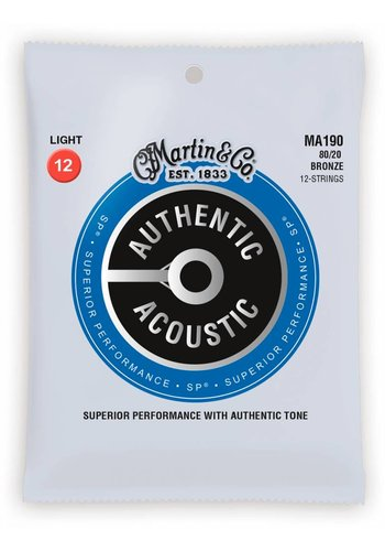 Martin Strings Martin MA190 Authentic 12-String 80/20 Bronze Light 12-54