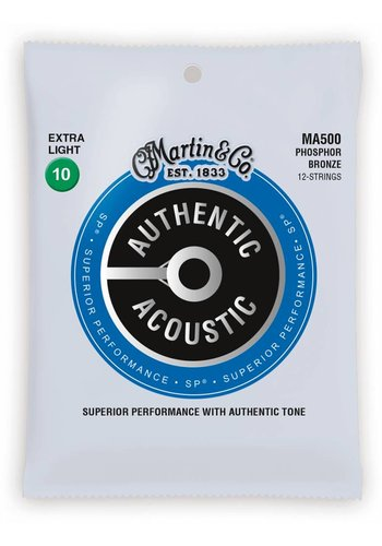 Martin Strings Martin MA500 Authentic 12-String Phosphor Bronze Extra Light 10-47