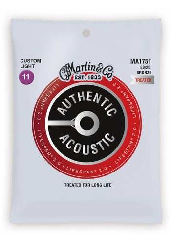 Martin Strings Martin MA175T Authentic Treated 80/20 Bronze Custom Light 11-52