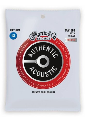 Martin Strings Martin MA150T Authentic Treated 80/20 Bronze Medium 13-56