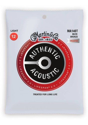 Martin Strings Martin MA140T Authentic Treated 80/20 Bronze Light 12-54