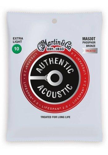 Martin Strings Martin MA530T Authentic Treated Phosphor Bronze Extra Light 10-47