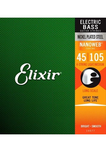 Elixir Elixir Nanoweb Electric Bass Strings 14077 45-105