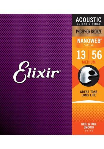 Elixir Elixir 16102 Phosphor Bronze Nanoweb Medium 13-56