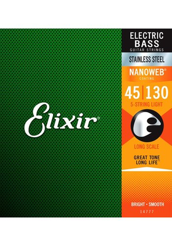 Elixir Elixir 14777 Bass Nanoweb 5-String Light 45-130