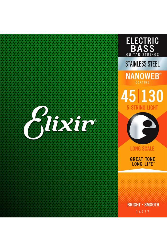 Elixir 14777 Bass Nanoweb 5-String Light 45-130