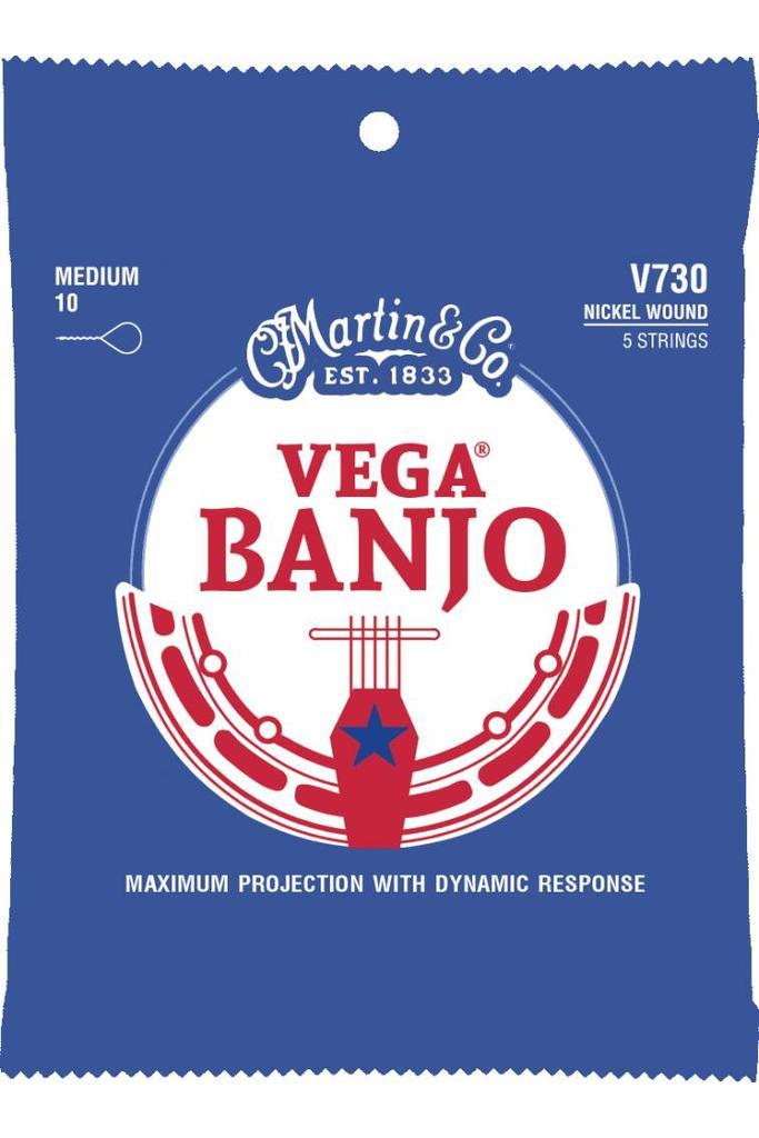 Martin V730 Vega Banjo Strings Medium .10