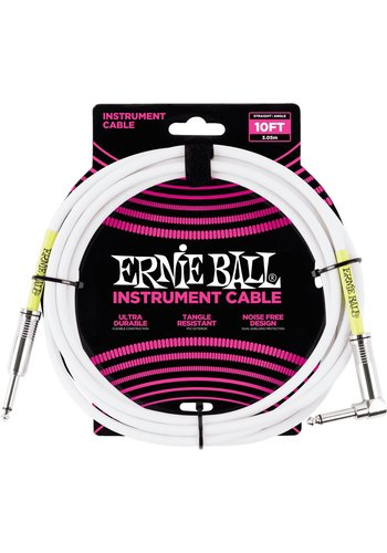 Ernie Ball Ernie Ball 6049 Guitar Cable 10FT White
