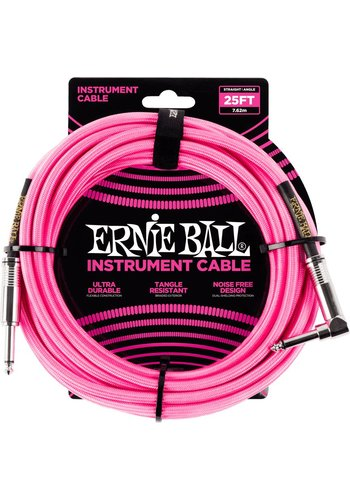 Ernie Ball Ernie Ball 6065 Braided Instrument Cable Pink 7.62M