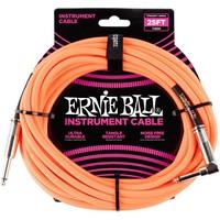Ernie Ball Braided Instrument Cable Orange Fluor 7.62M