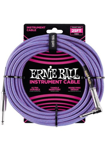 Ernie Ball Ernie Ball Braided Instrument Cable Purple 7.62M