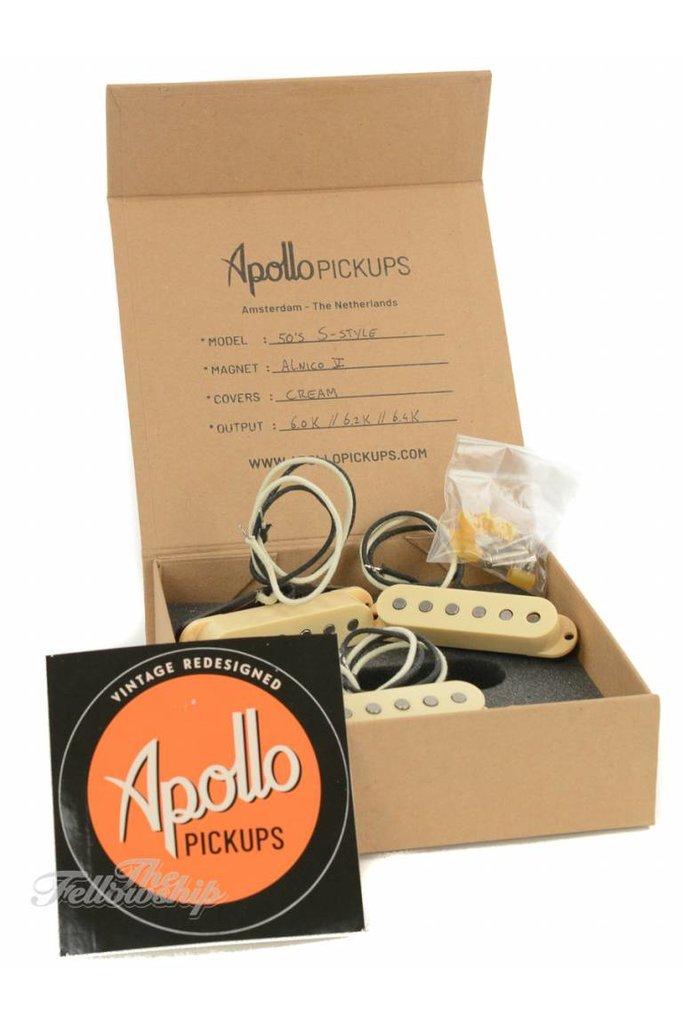 Apollo Pickups 50's S-Style Alnico V Cream Set