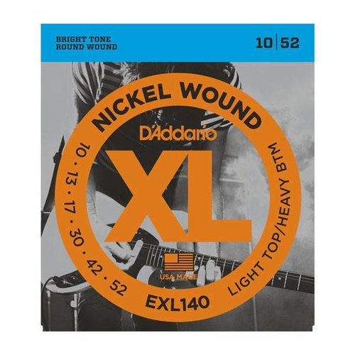 D'Addario D'addario EXL140 Nickel Wound Light Top/Heavy Bottom 10-52