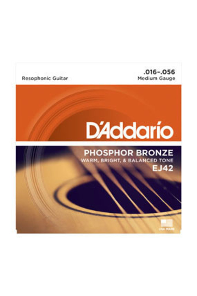 D'addario EJ42 Resophonic Guitar Medium 16-56
