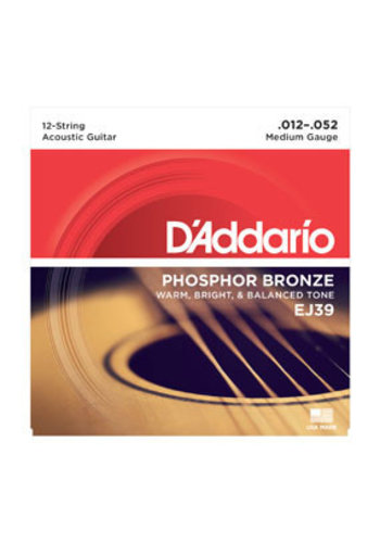 D'Addario D'addario EJ39 12-String Phosphor Bronze Medium 12-52