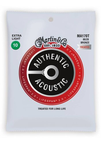 Martin Strings Martin MA170T Authentic Treated 80/20 Bronze Extra Light 10-47