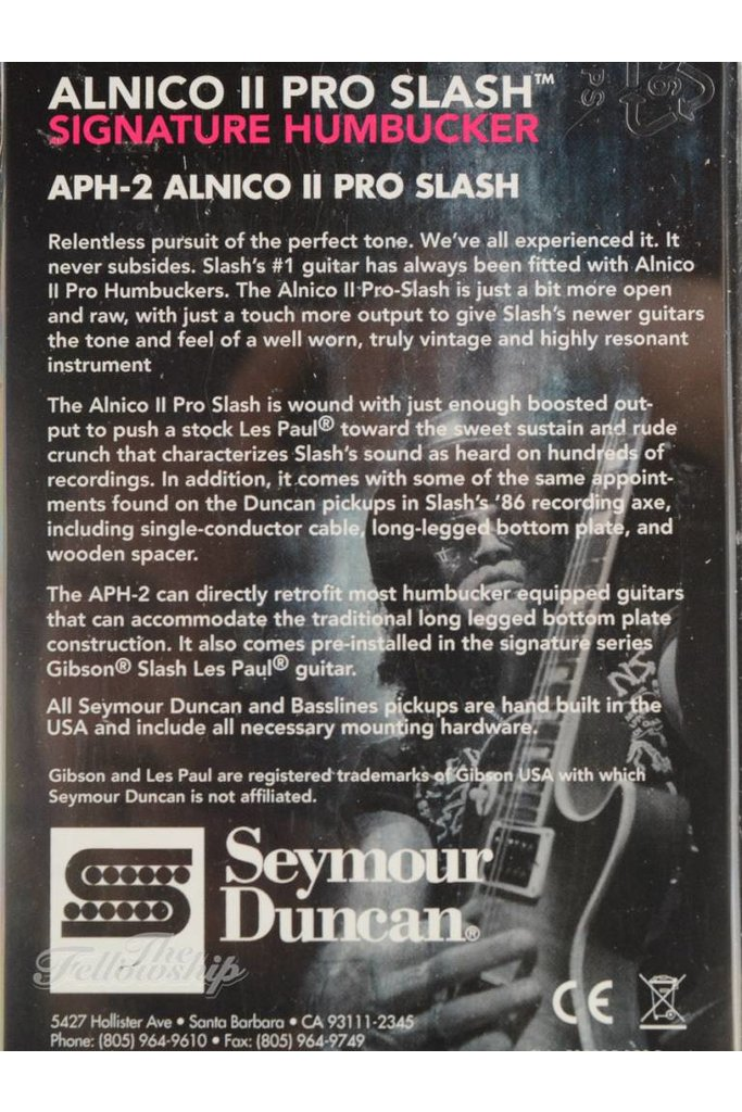 Seymour Duncan Slash Alnico II Pro Humbucker Set
