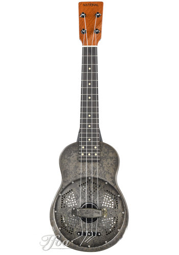 National National NRP Steel Ukulele Black Rust