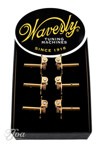 Waverly Waverly Tuners 4098-G Snakewood Slotted Pegheads Gold