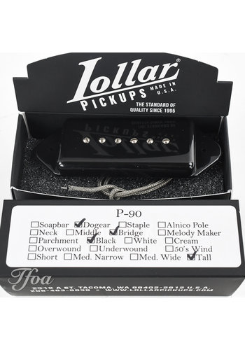 Lollar Lollar Dogear P90 Bridge Black Tall