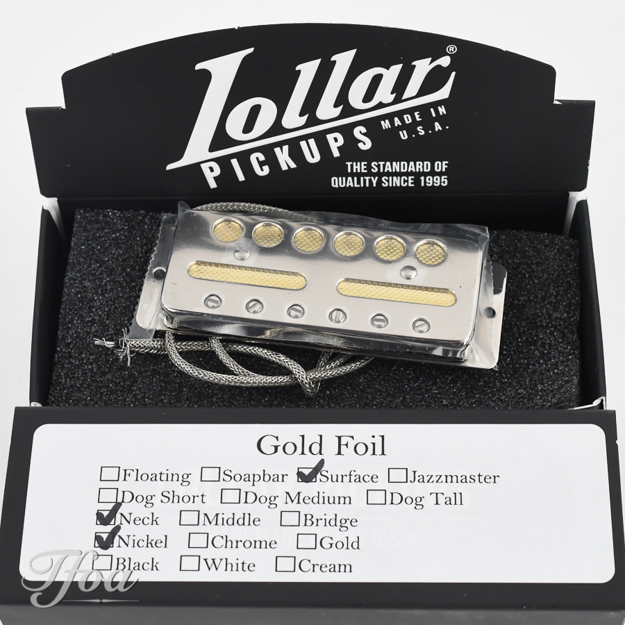 Lollar Gold Foil Surface Mount Neck Nickel