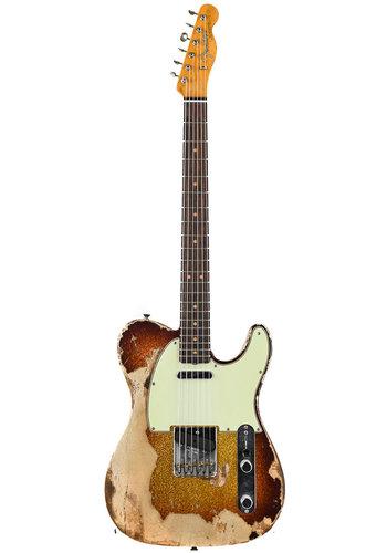 Fender Custom Fender Custom Shop NAMM Limited 1963 Telecaster Super Heavy Relic 3 Tone Sunburst Sparkle
