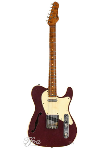 Haar Her Trad T Thinline Maroon Red Double Bound