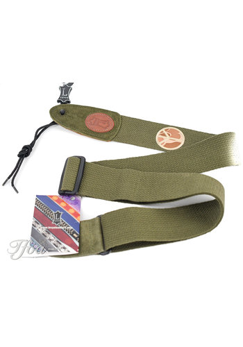 Levys Levys Green Guitar Strap MSSC8PSP GRN