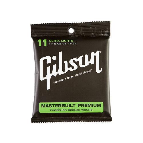 Gibson Gibson Masterbuilt Premium Phosphor Bronze Strings 11-52
