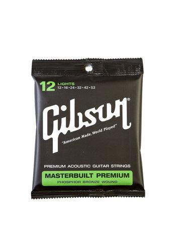 Gibson Gibson Masterbuilt Premium Phosphor Bronze Strings 12-53