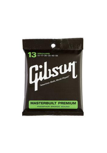 Gibson Gibson Masterbuilt Premium Phosphor Bronze Strings 13-56