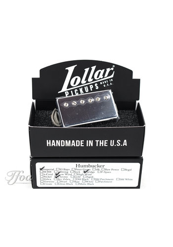 Lollar Lollar Imperial Humbucker Low Wind Chrome Bridge