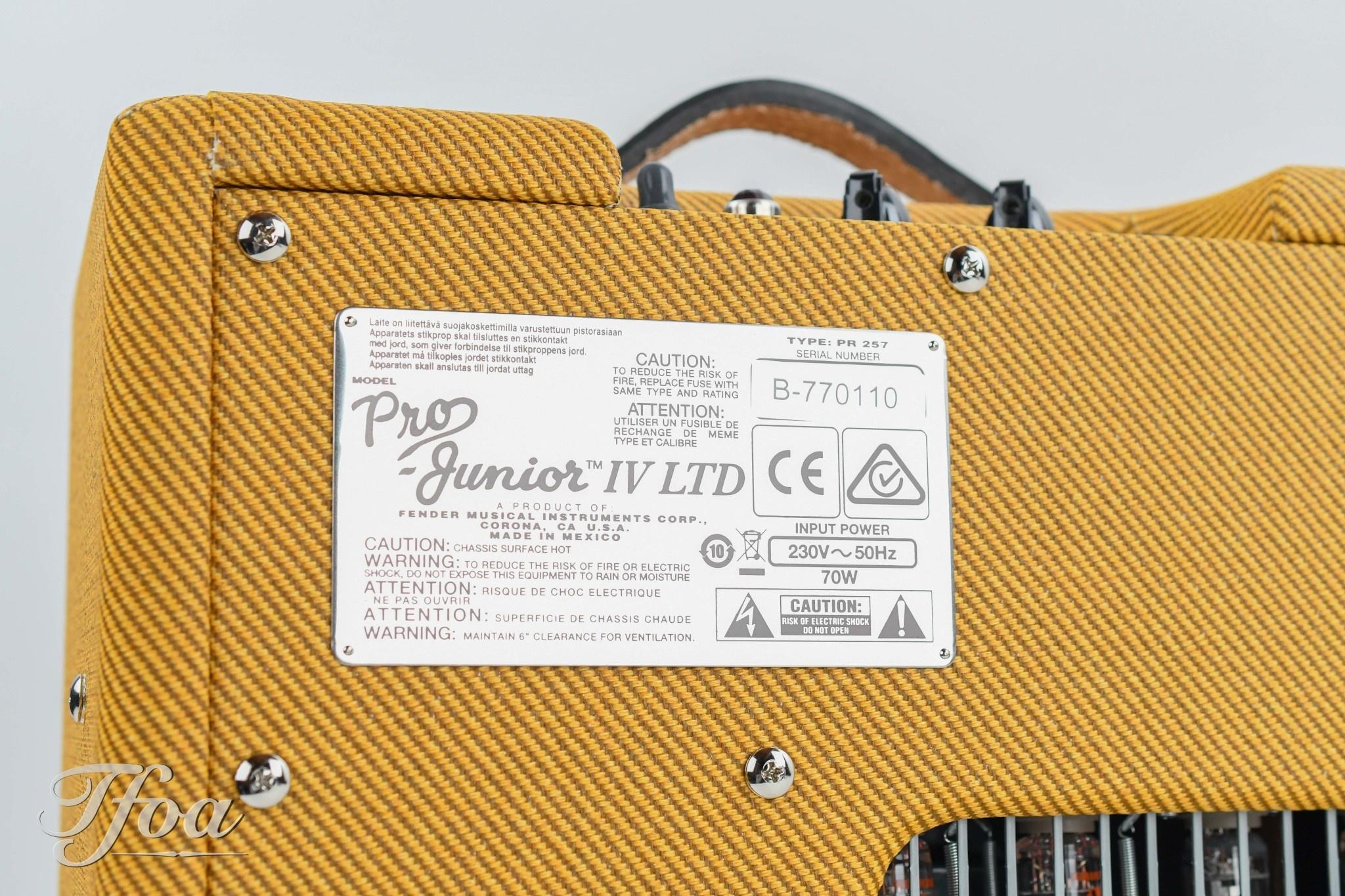 Fender Fender Pro Junior IV LTD