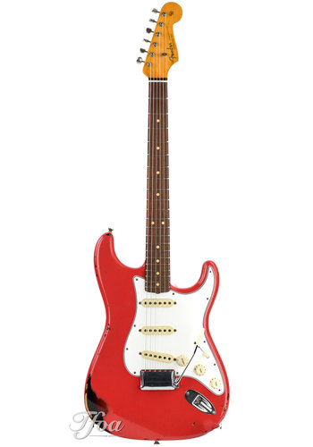 Fender Custom Fender 63 Stratocaster Relic Fiesta Red over Sunburst