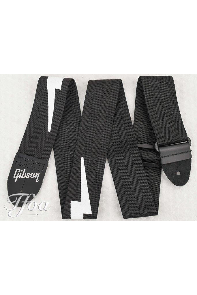 Gibson The Lightning Bolt Seatbelt Strap Black
