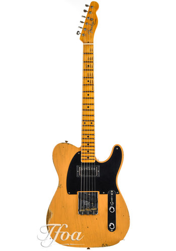 Fender Custom Fender Custom Shop '52 Telecaster Butterscotch Blonde Relic Humbucker