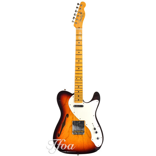 Fender Custom Fender 50s Telecaster Double Bound Thinline Chocolate Sunburst