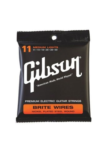 Gibson Gibson Medium Lights Brite Wires 11-50