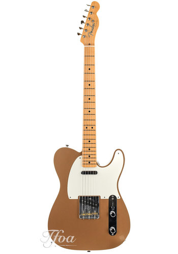 Fender Custom Fender Custom Shop Dual Tone Top Bound Telecaster NOS Firemist Gold 2013 Near Mint