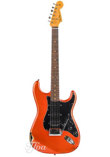 Fender Custom Fender Custom 60 Strat Heavy Relic Candy Tangerine over Black
