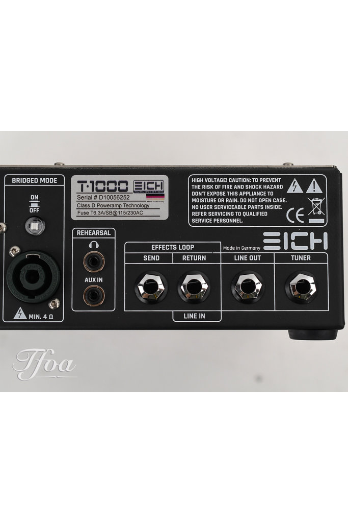 Eich T1000 Bass Amp