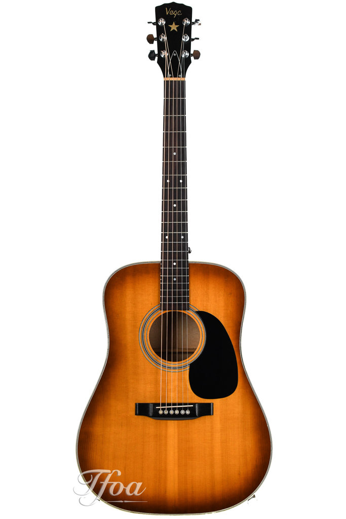 Vega V646 Solid Maple Engelmann Dreadnought 1970s