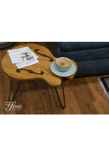 Ruwdesign Ruwdesign Solid Oak Guitar Side Table Hollowbody